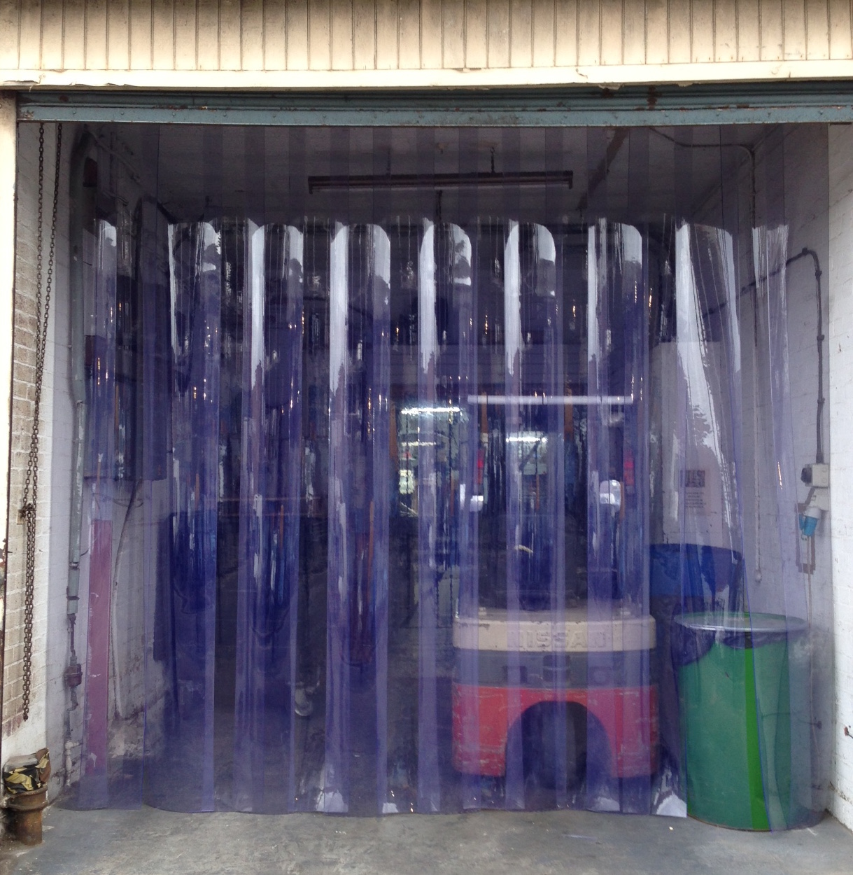 Heavy Duty Strip Curtains To 4m Redwood