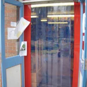 School nursery curtain