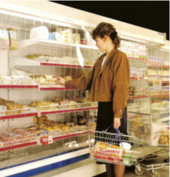 pvc curtains in supermarket refrigerator