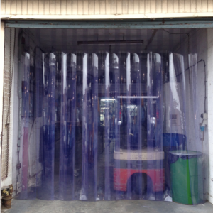 Heavy duty PVC strip curtain to four metre