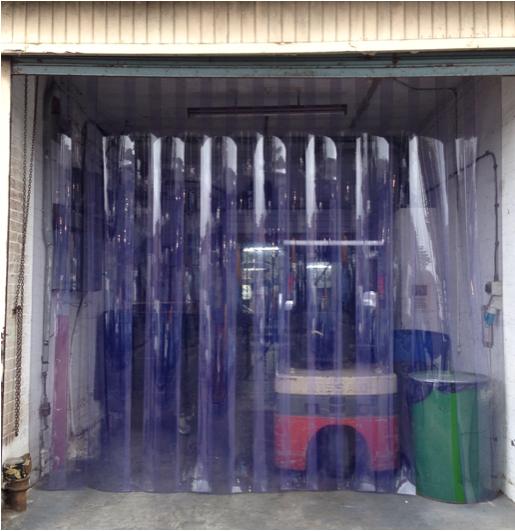 Heavy duty PVC strip curtain to four metre