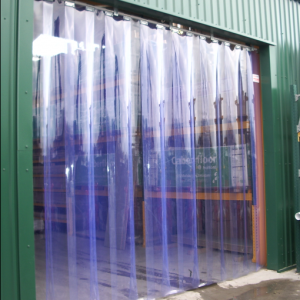 Heavy duty PVC strip curtain to five metres