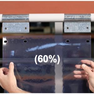 Swivel hinge curtain strip 60% overlap