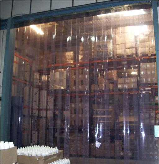 pvc strip curtain to four metres