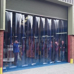 pvc strip curtain to three metres