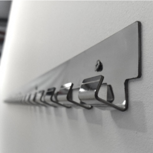 stainless steel face hook on rail