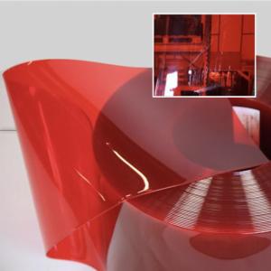 Transparent Red PVC Rolls