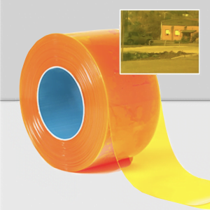 Transparent Yellow PVC Roll